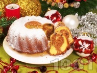 Коледен кекс с какао и стафиди